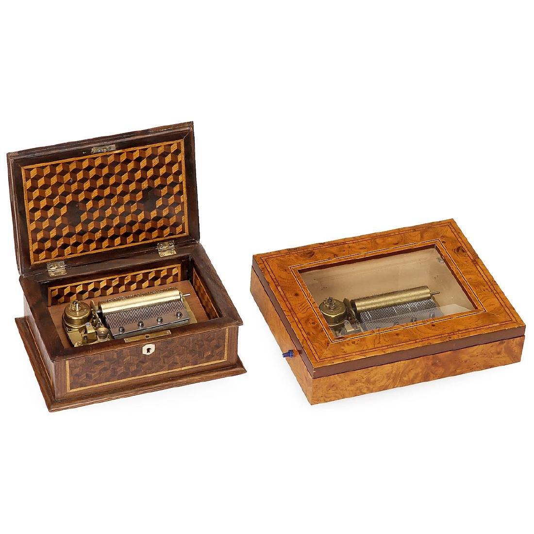 2 Musical Boxes by Jules Cuendet, 20th Century