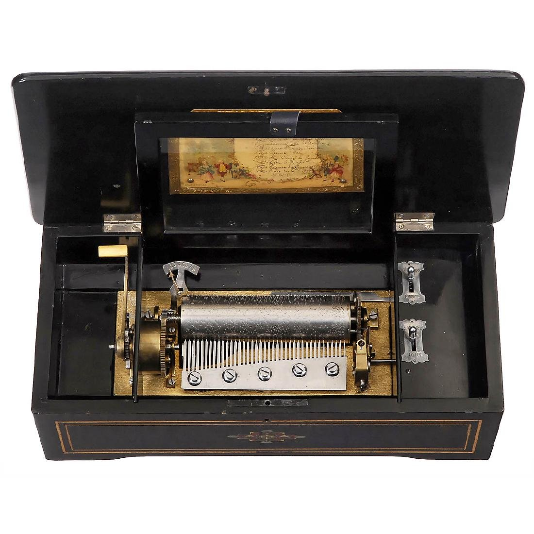 Swiss Lever-Wind Cylinder Musical Box, c. 1900