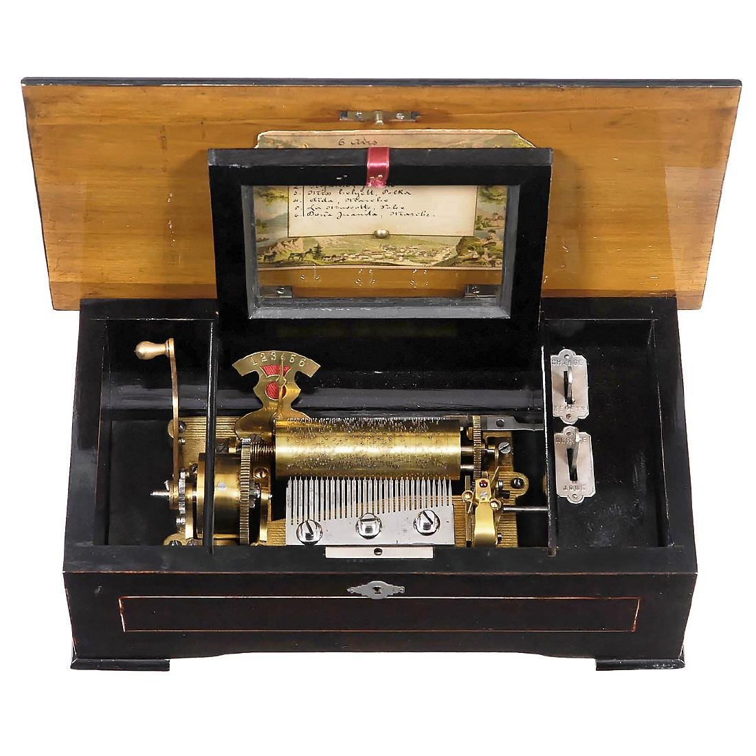 Small Cylinder Musical Box by Cuendet, c. 1895