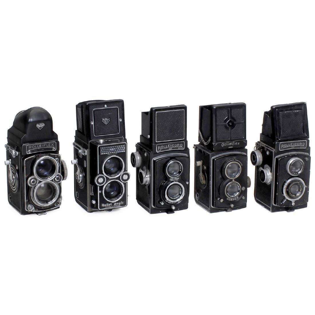 5 Rollei TLR Cameras