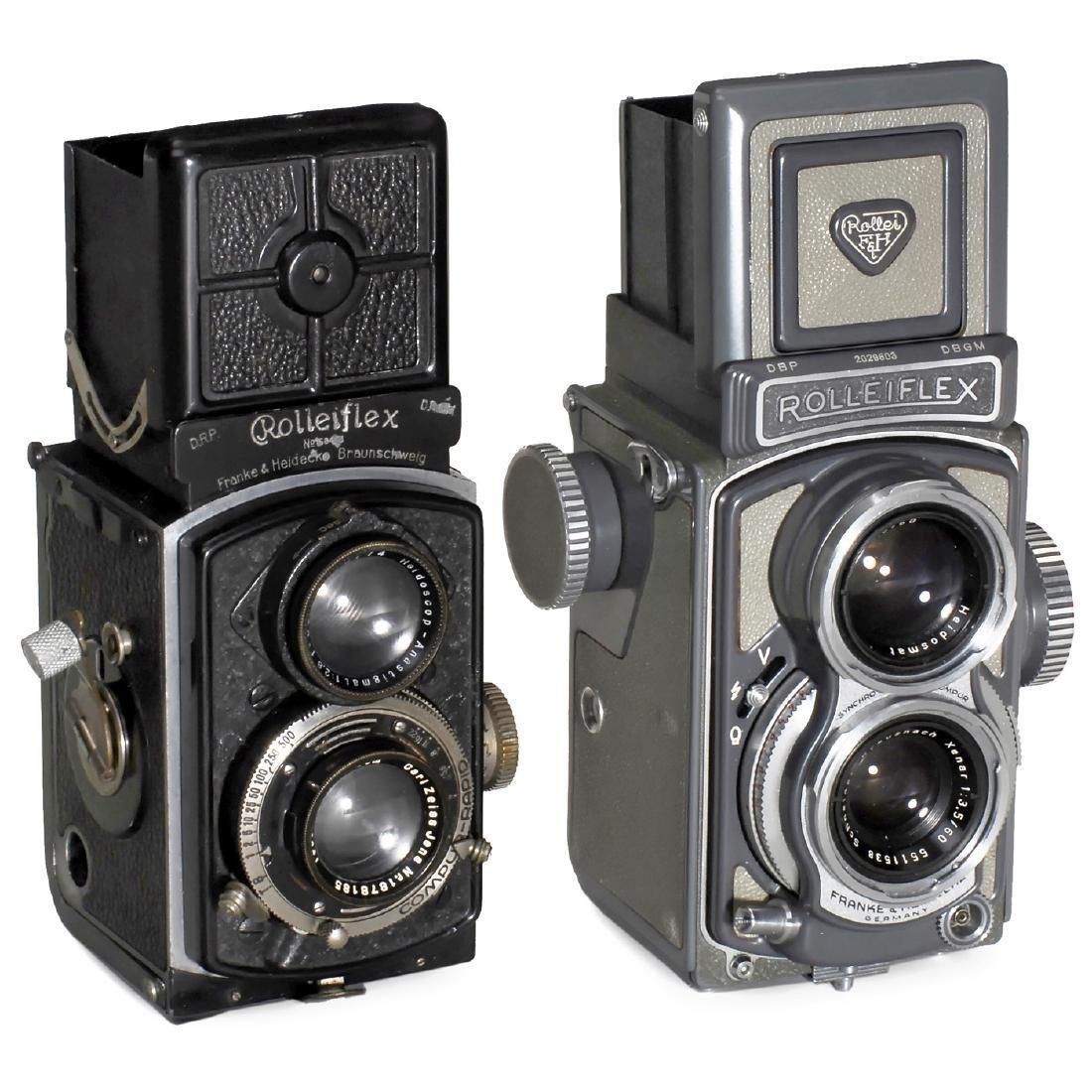 2 Rolleiflex 4 x 4 Cameras