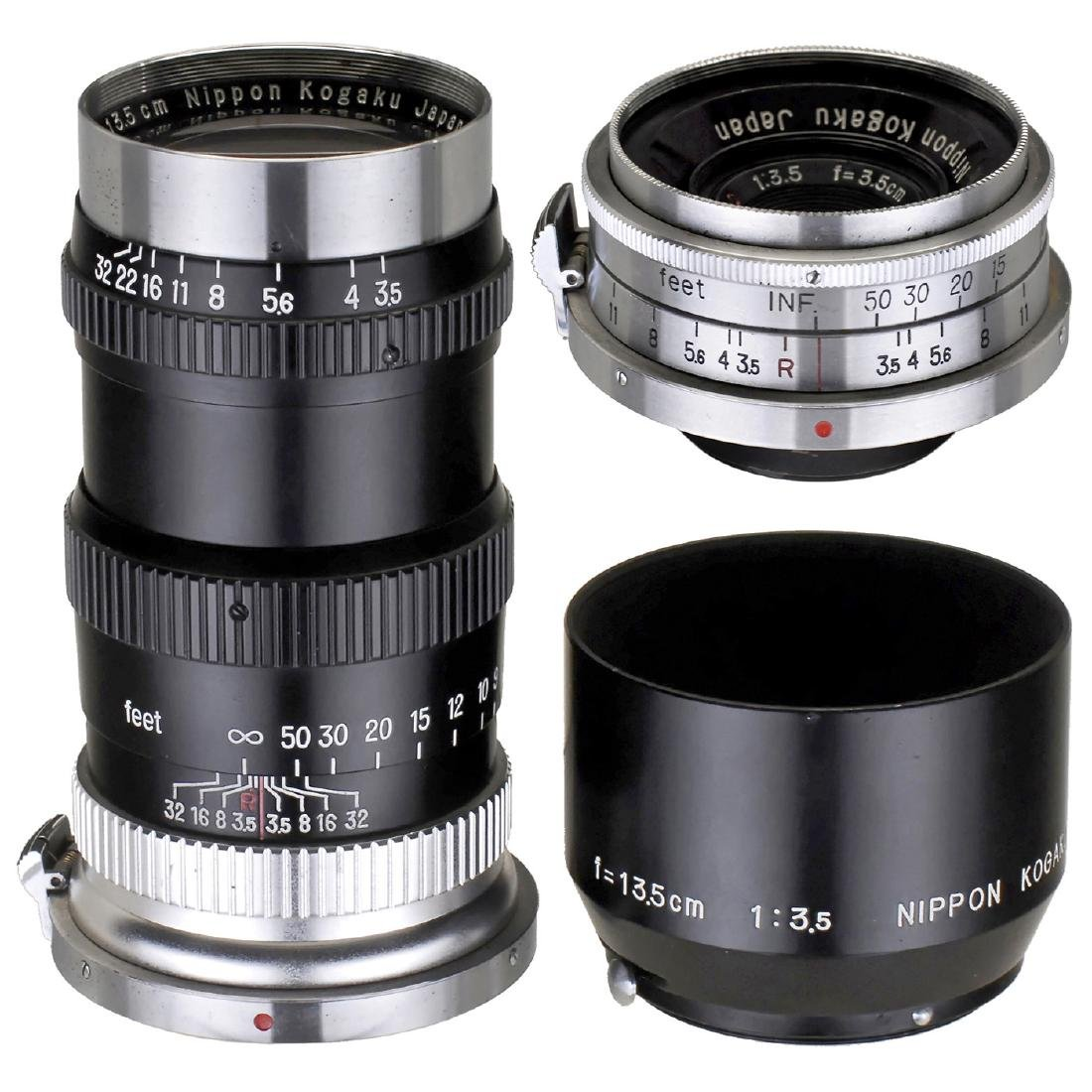 W-Nikkor C 3,5/3,5 cm and Nikkor-Q. C 3,5/13,5 cm (for