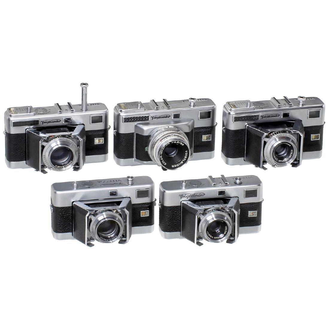 """5 Voigtländer """"Vitessa"""" Cameras, 1953-1956"""