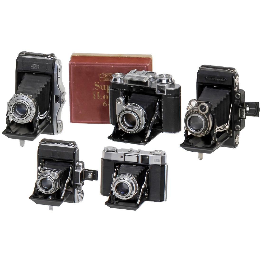 5 Zeiss Ikon Rollfilm Cameras