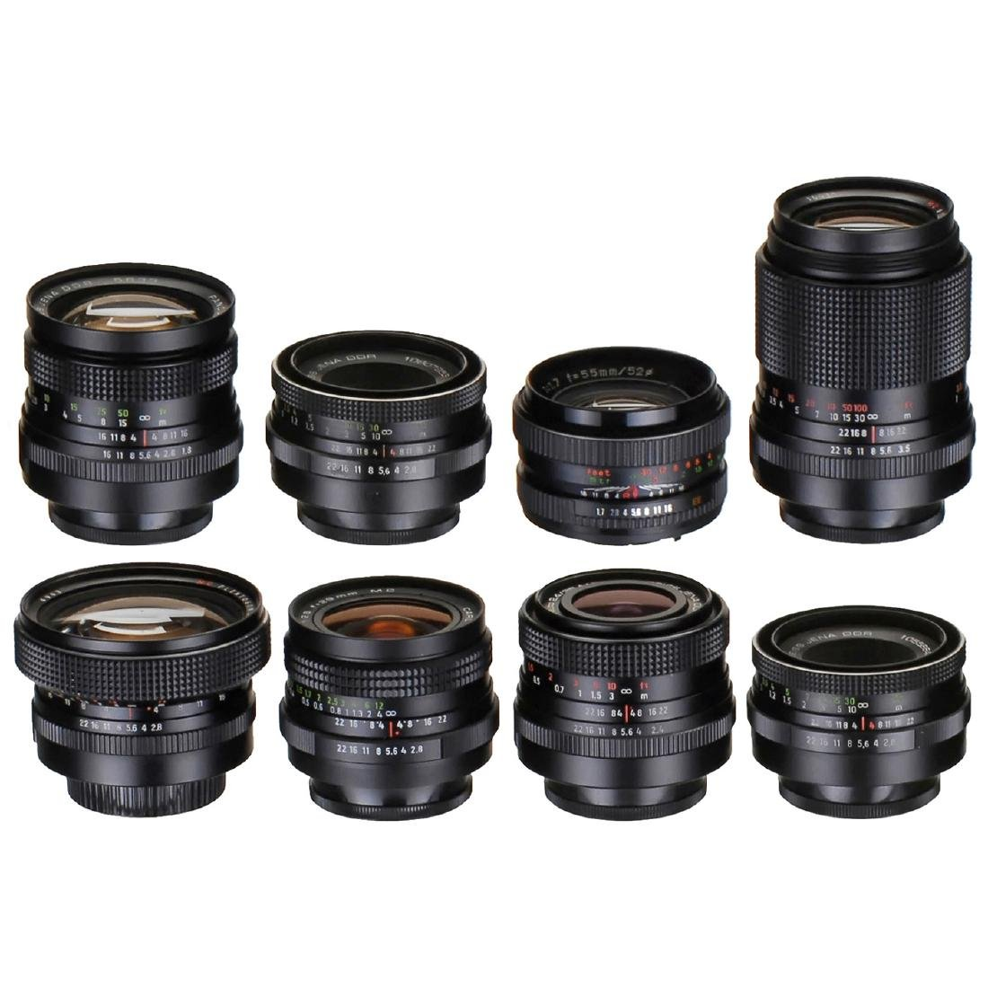 7 Zeiss Jena Lenses (M42 Screw-Mount)