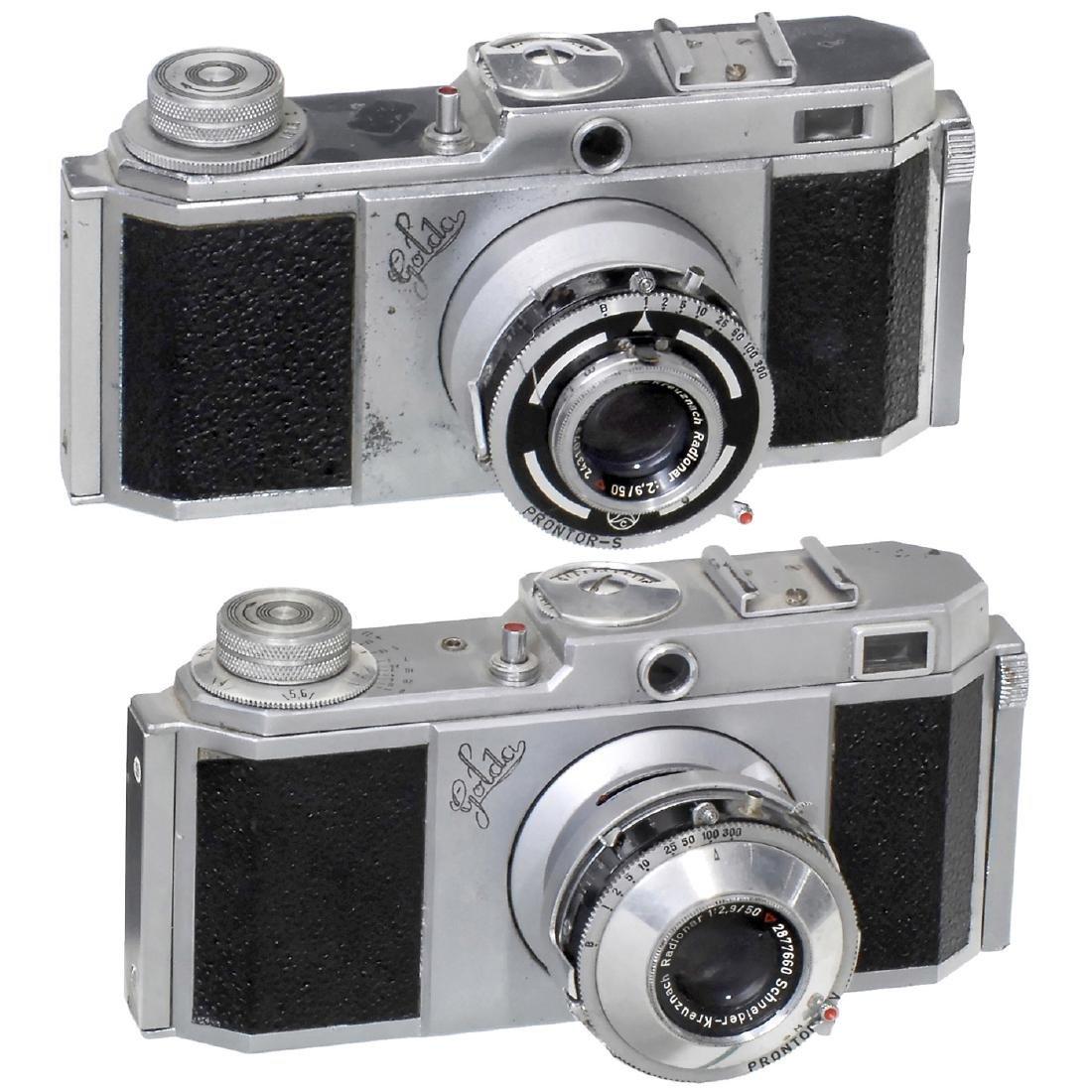 """2 """"Golda"""" Cameras, c. 1949"""