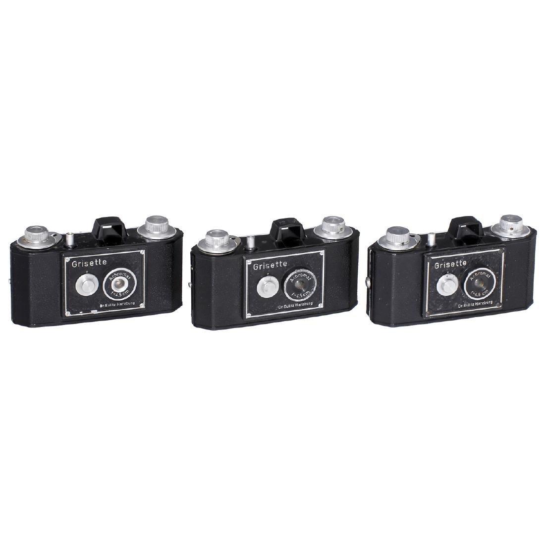 """3 Dr. Eulitz """"Grisette"""" Cameras, 1948-50"""
