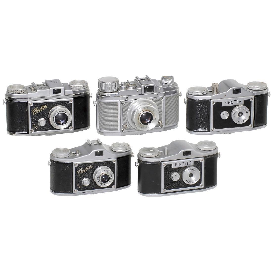 5 Finetta/Finette Cameras