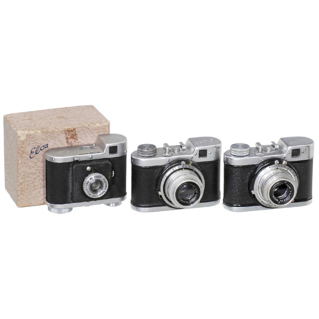 Ucanett and 2 Elca Cameras, 1947-51