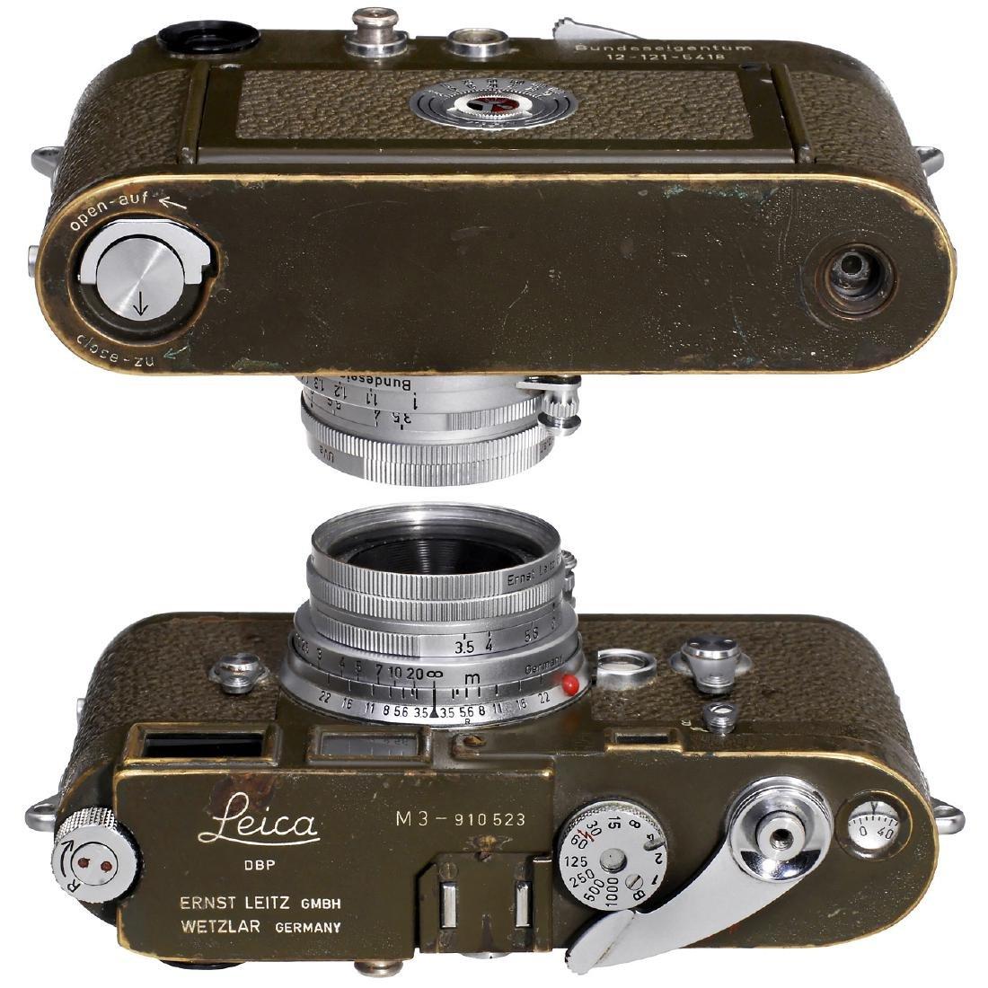 "Leica M3 Olive ""Bundeseigentum"" Set, 1957 - 4"