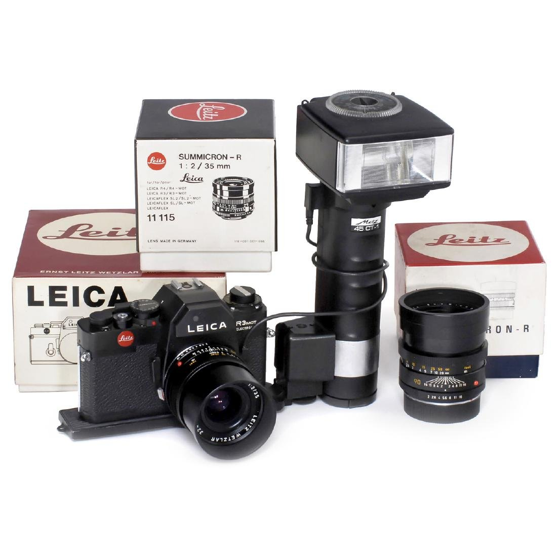 Leica R3Mot Electronic with 2 Lenses, c. 1979