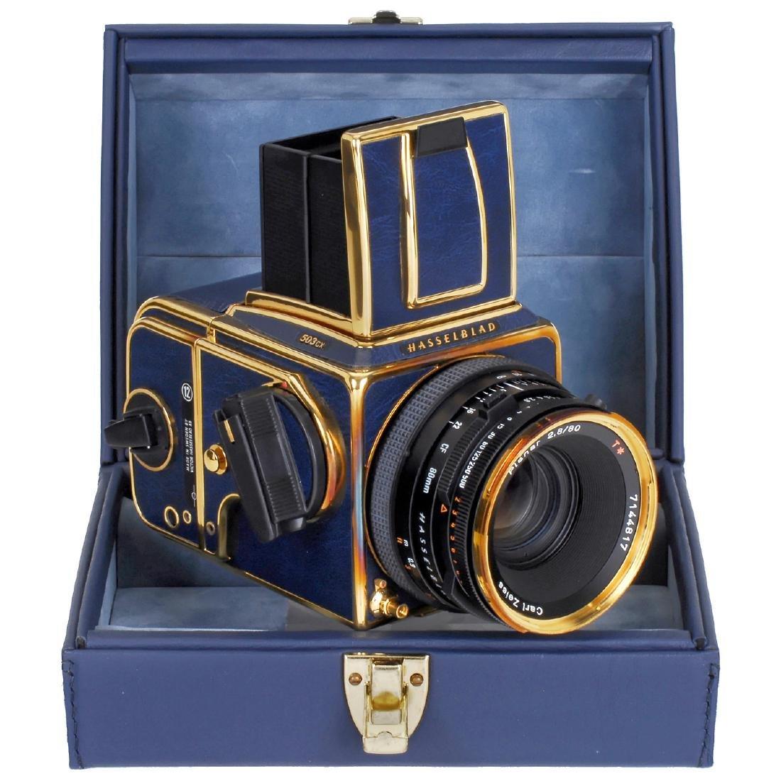 "Hasselblad 503CX ""Golden Blue 1941-1991"", 1991"