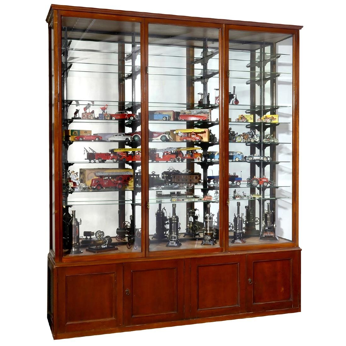 English Mahogany Display Cabinet, second half of 19th