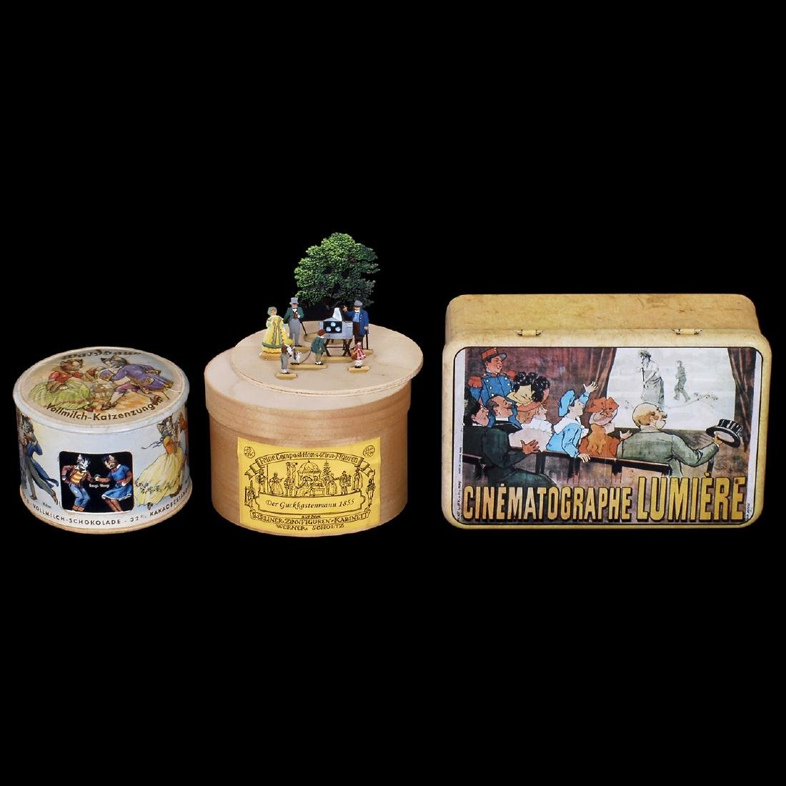 3 Boxes with Photo and Movie Motifs
