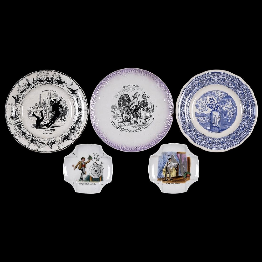 Plates and Ashtrays with Motifs