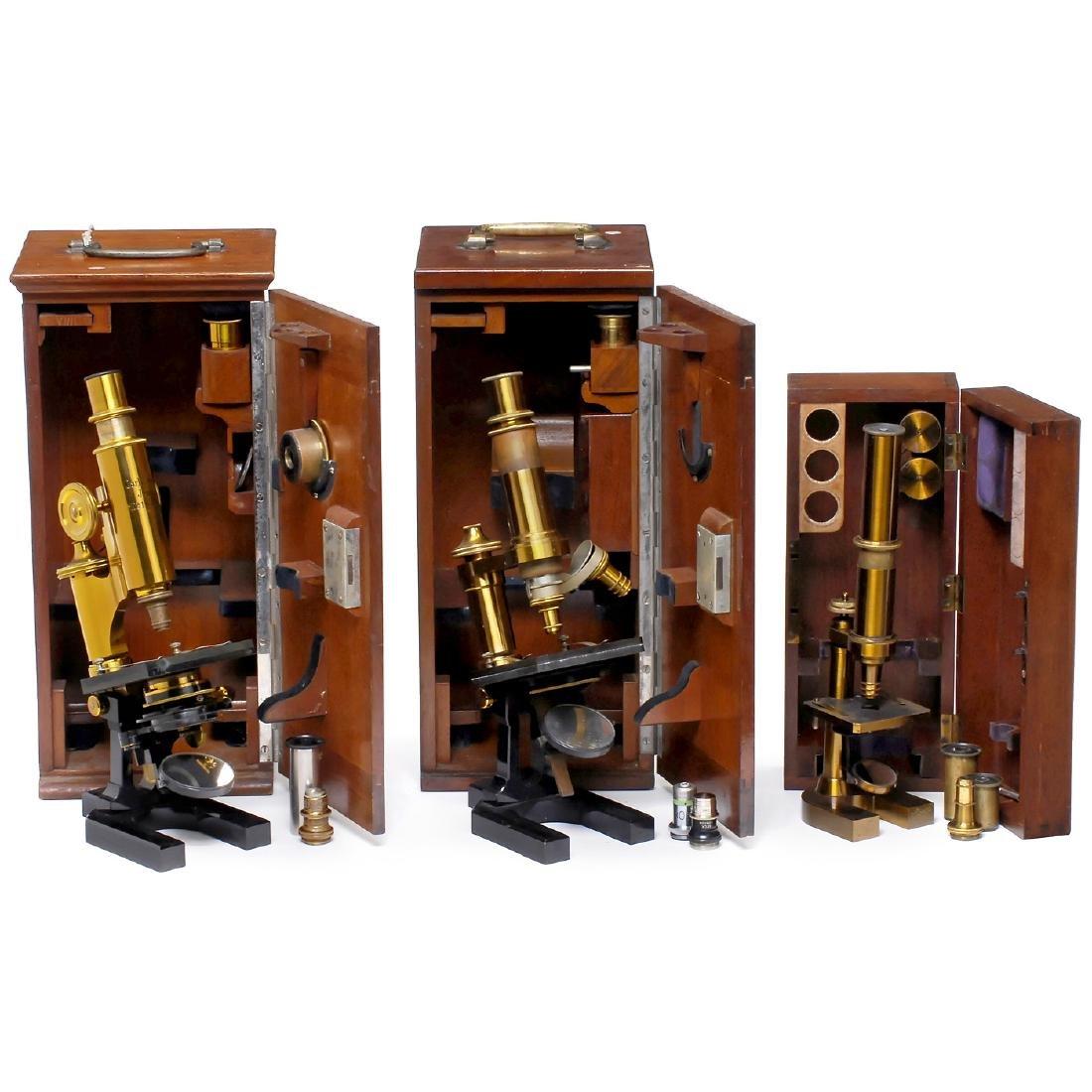 3 Zeiss Jena Microscopes