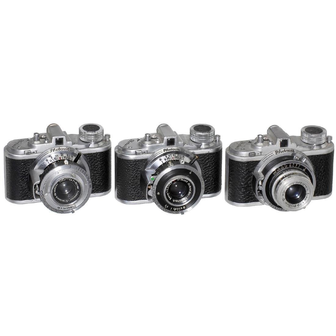 3 Photavit 24 x 24 mm Cameras