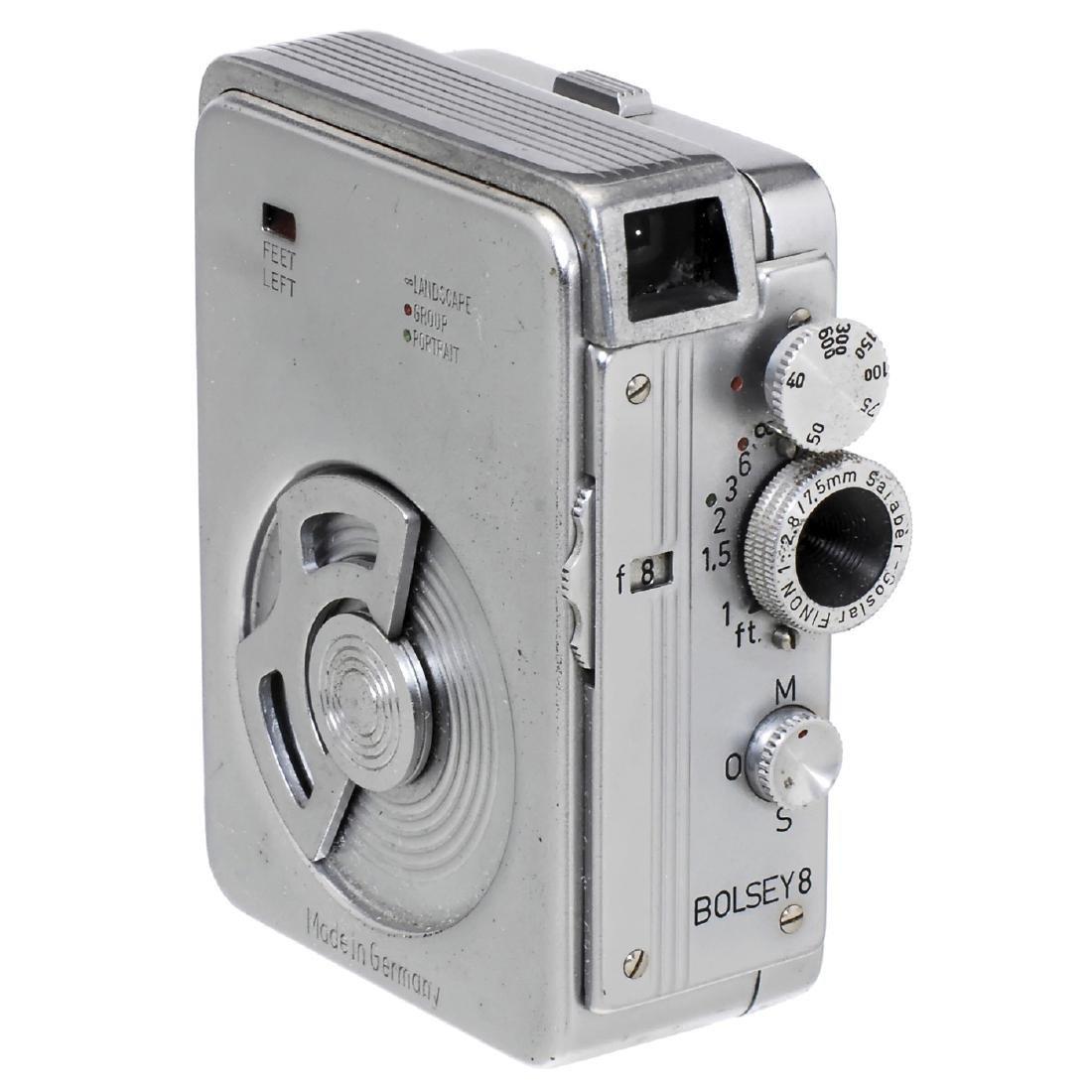 """Single Photo and Movie Camera """"Bolsey 8"""", 1955"""