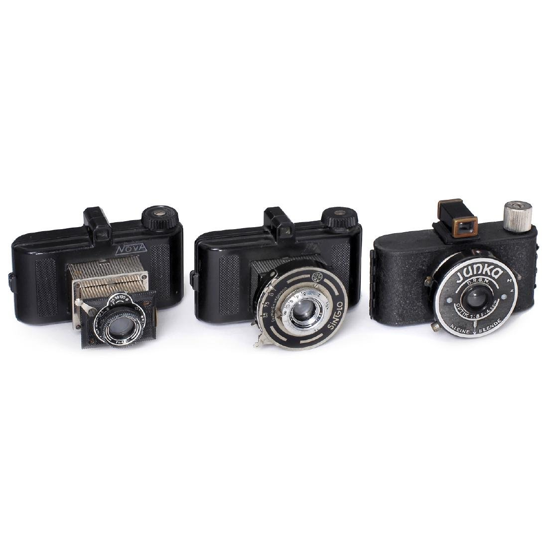 3 Subminiature Cameras: Nova, Tex and Junka