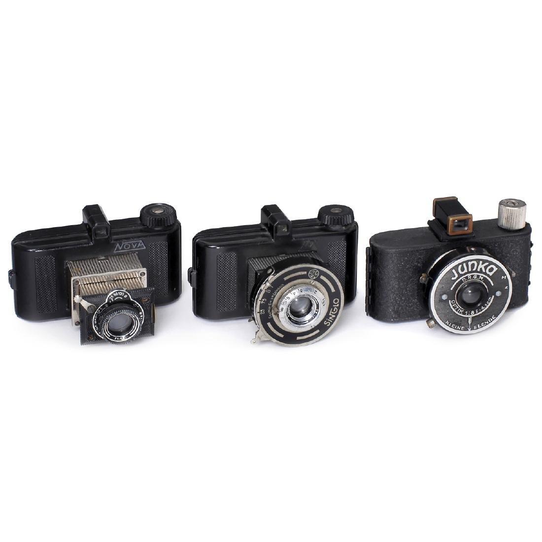 3 Subminiature Cameras: Nova, Tex and Junka