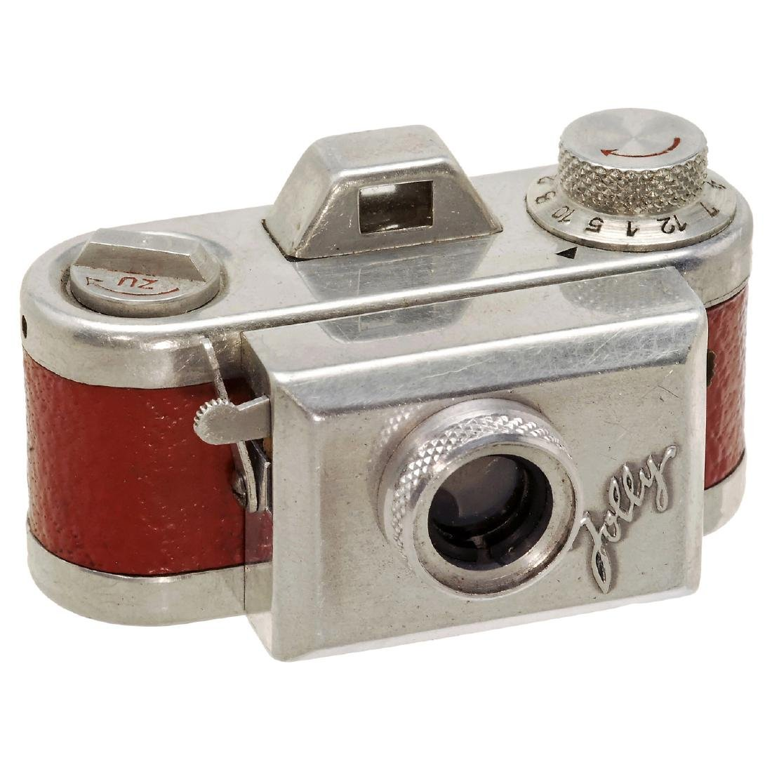 """Rare Subminiature Camera """"Jolly"""" in Red, 1950"""