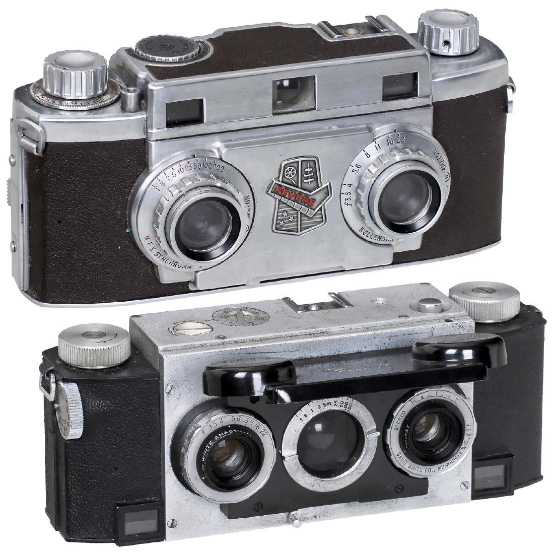 Revere Stereo 33 and Stereo Realist 3,5