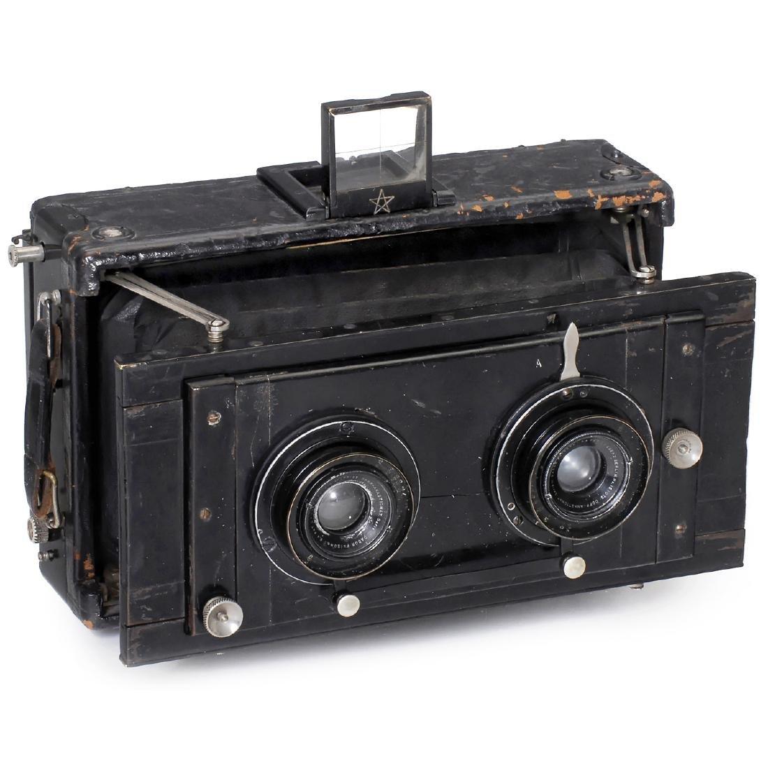 Hüttig Stereo-Panorama Camera Helios I 9 x 18, 1907