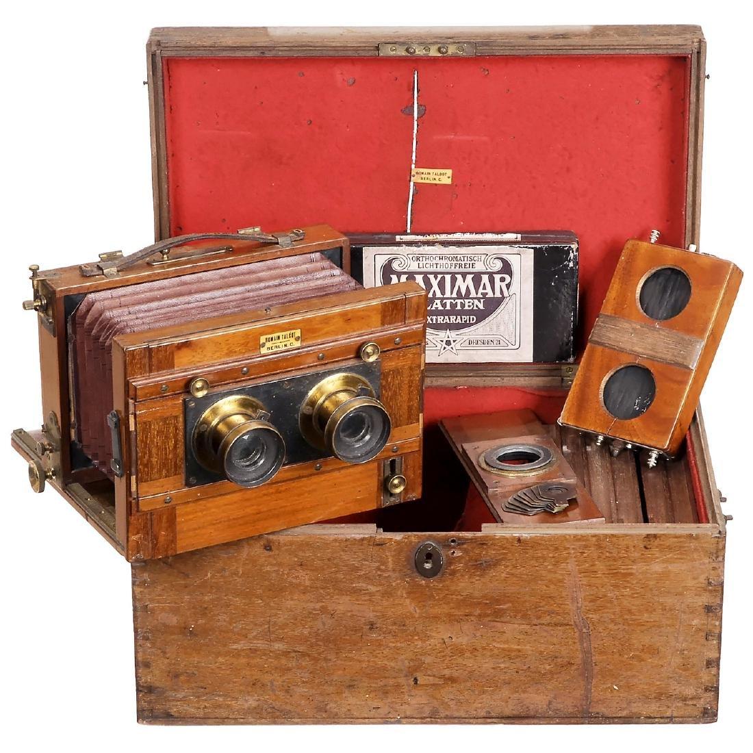 Stereo Camera 9 x 18 cm by Romain Talbot, Berlin, c.