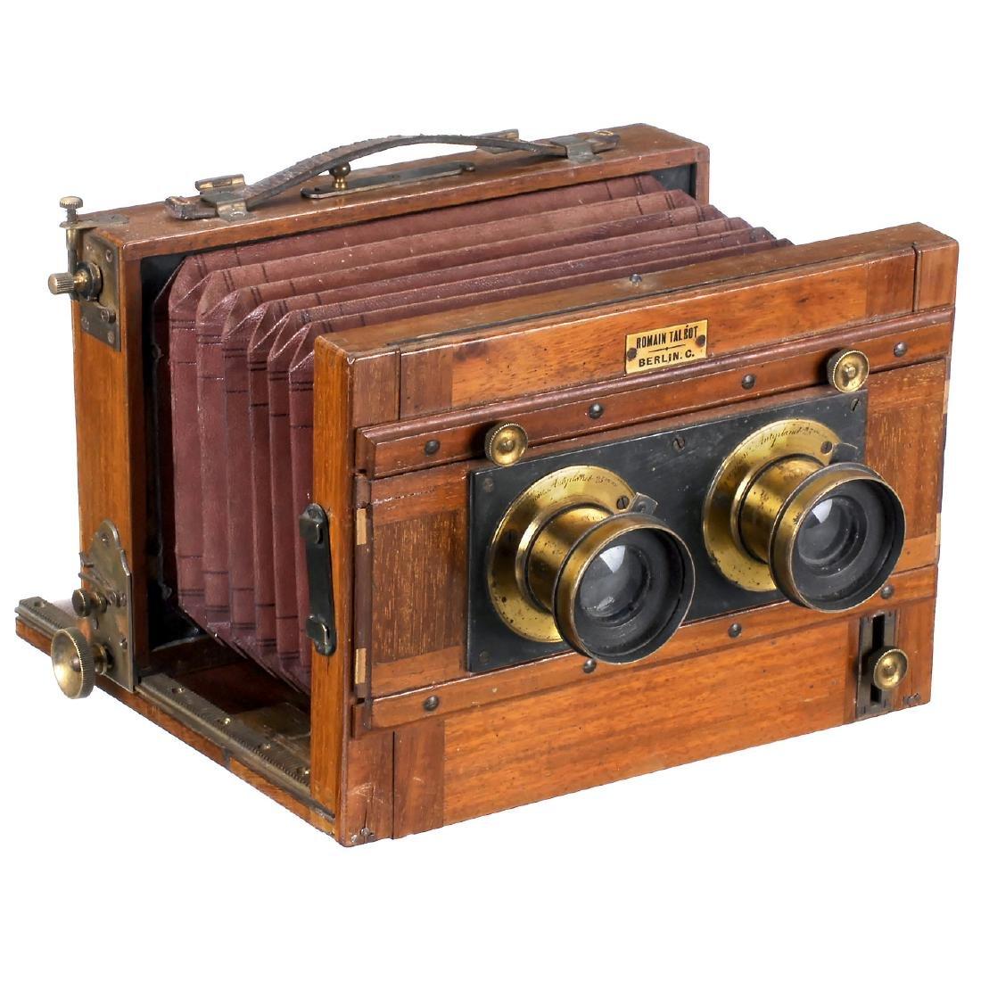 Stereo Camera 9 x 18 cm by Romain Talbot, Berlin, c. - 2