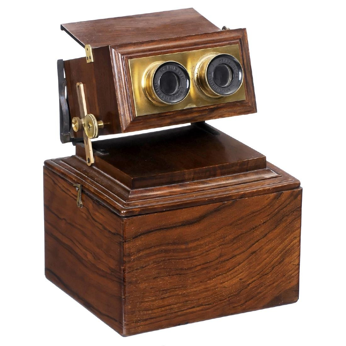 """Box-Type Stereo Viewer by """"Smith, Beck & Beck"""", c. 1880"""
