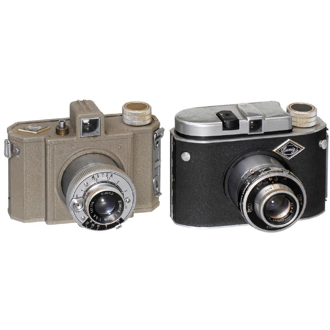 2 Eumig Rollfilm Cameras