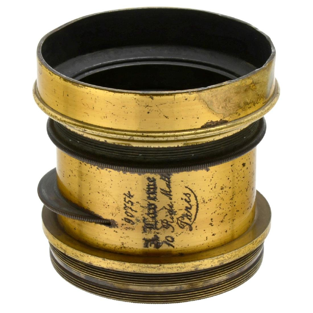 3 French Brass Lenses and 1 Caterpillar Projection Lens - 4
