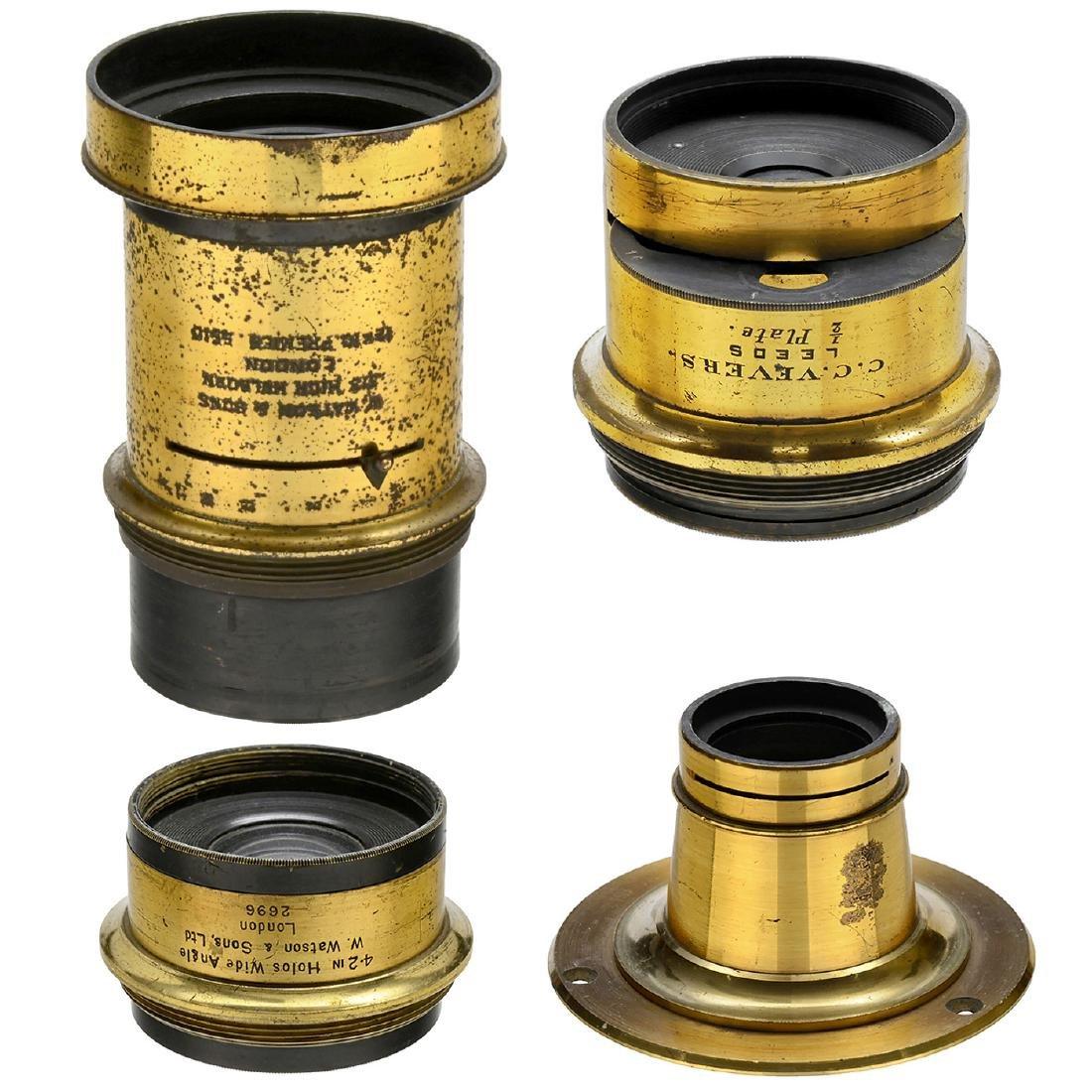 4 Brass Lenses from England