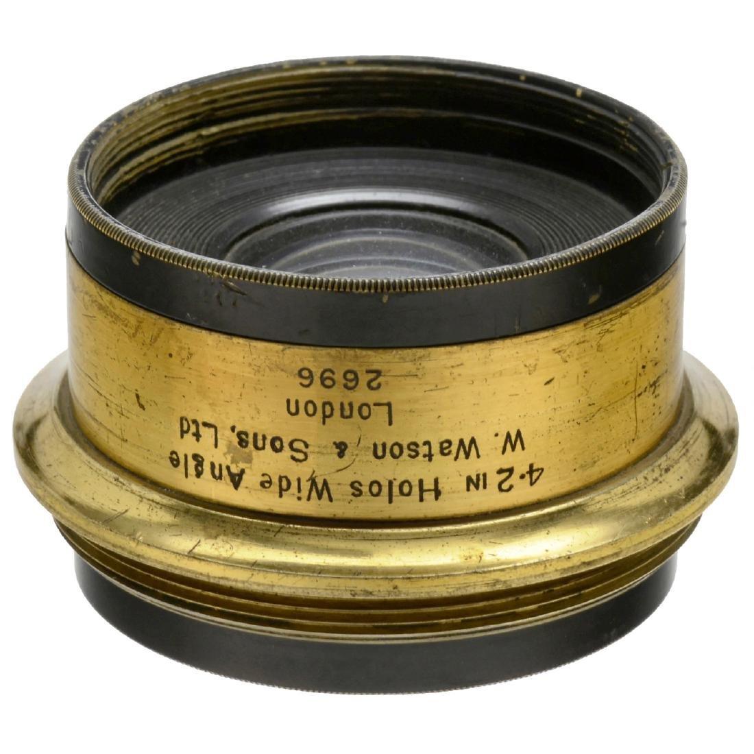 4 Brass Lenses from England - 5