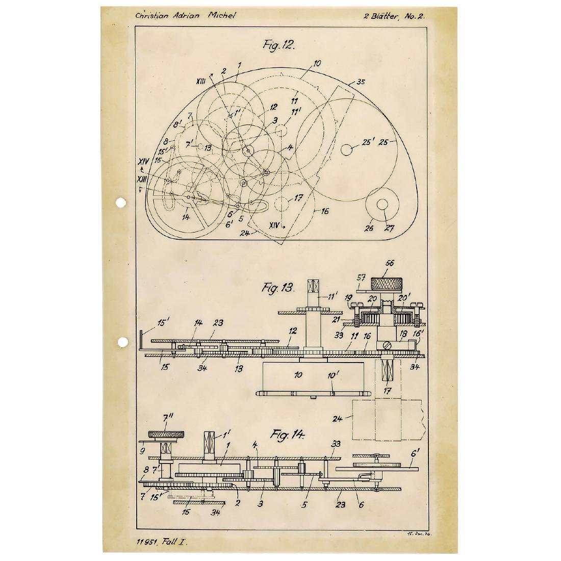 "Original Drawing for Pigeon Camera (""Tauben-Kamera""),"
