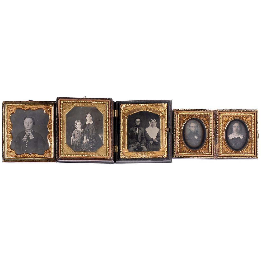 3 Daguerreotypes and 1 Ambrotype, 1845-50