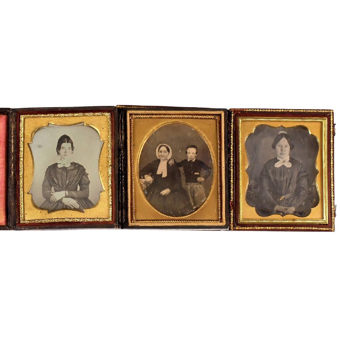 3 Daguerreotypes (1/8 Plates), c. 1845-50
