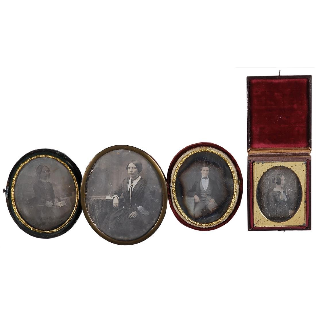 4 Daguerreotypes (Various Sizes), 1845-55