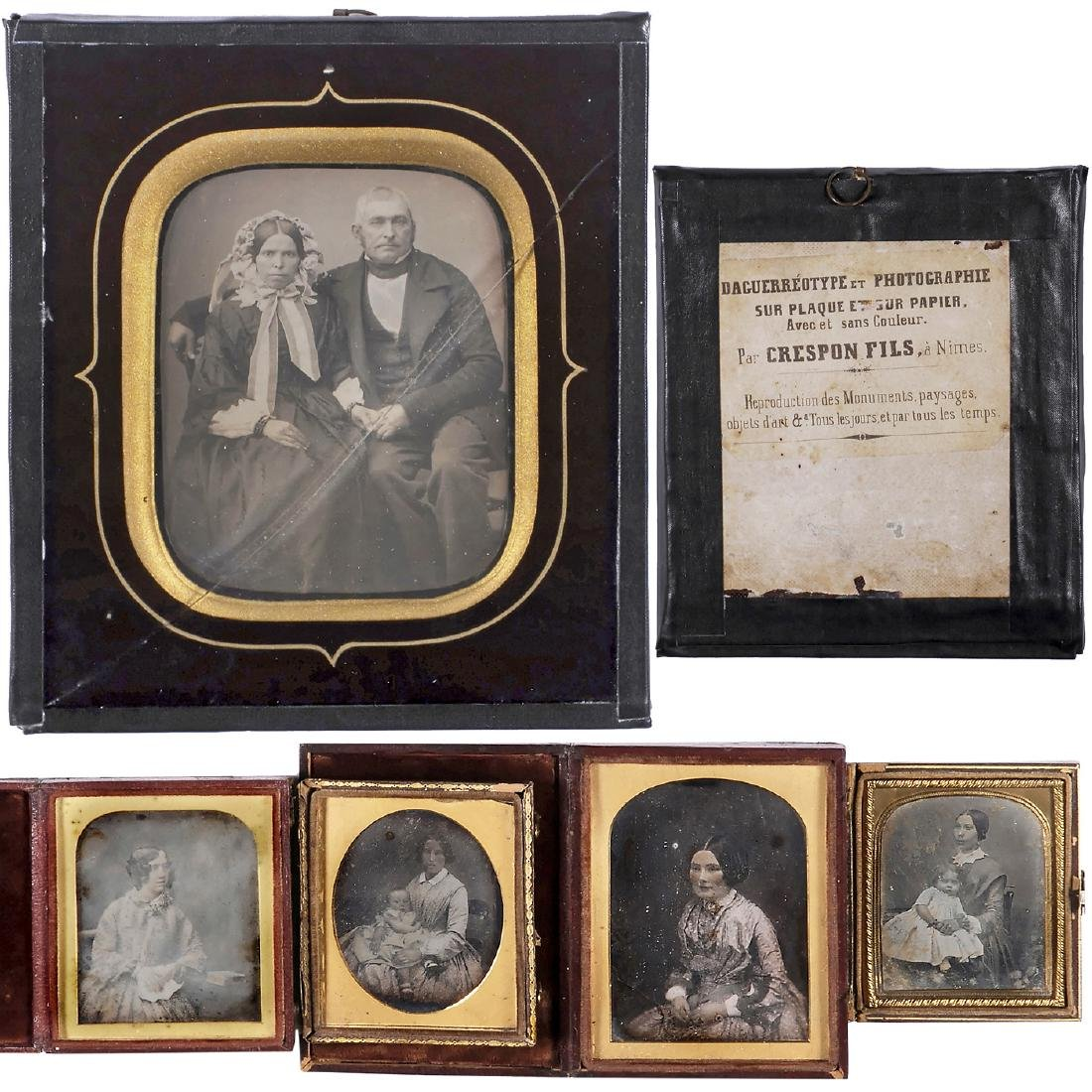 Daguerreotype by Crespon Fils and 4 Others, c. 1845