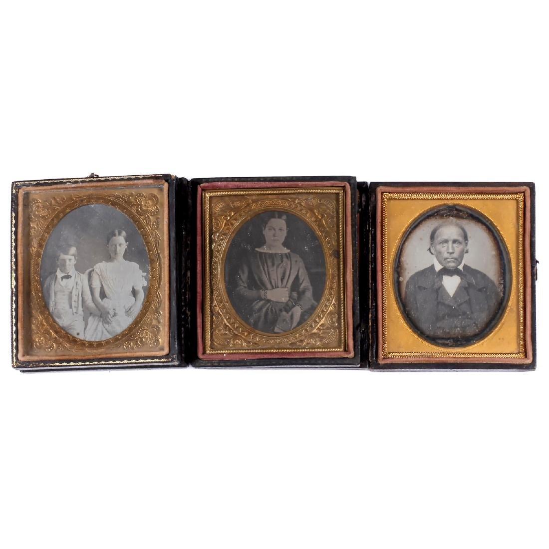 3 Daguerreotypes, c. 1850