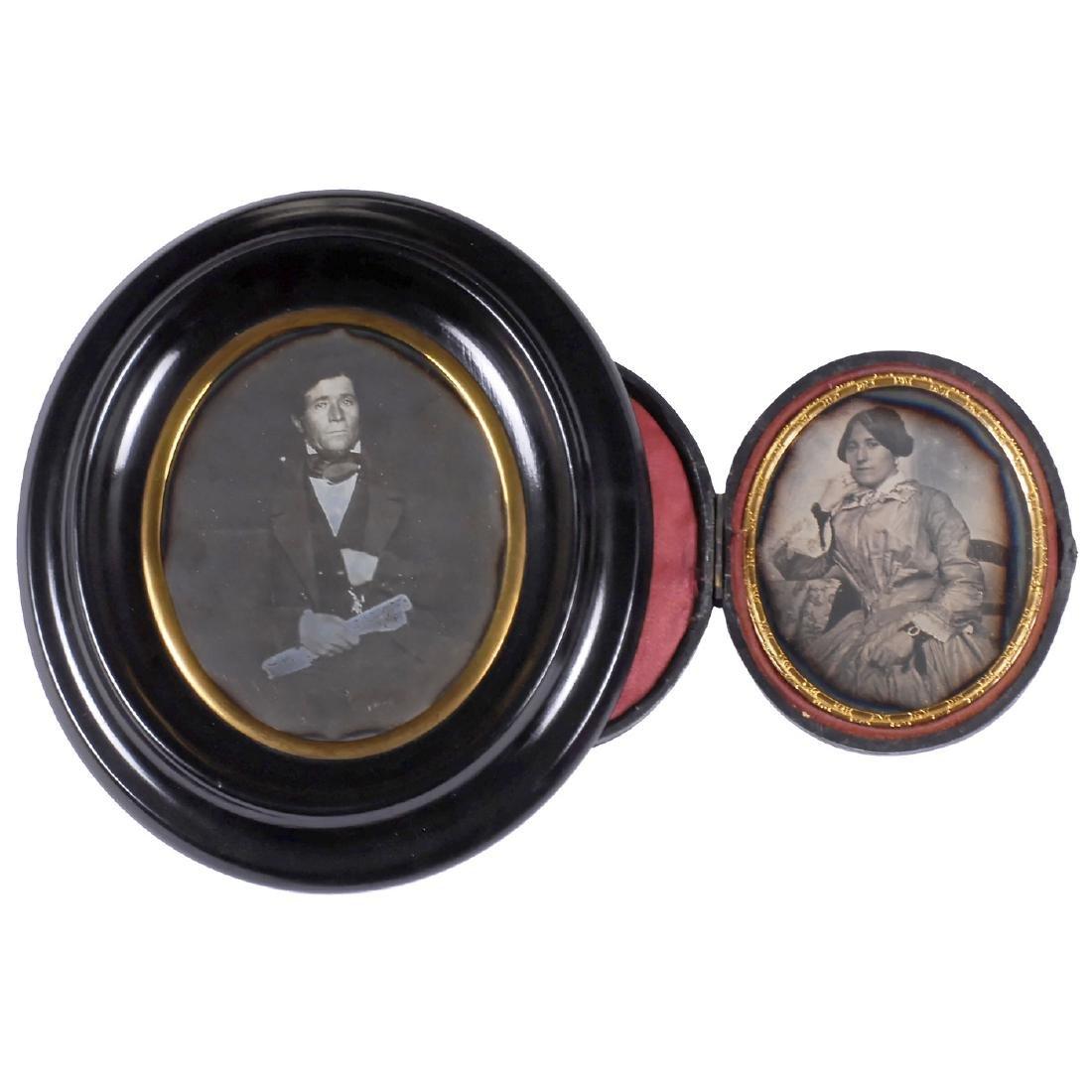 2 Daguerreotypes, c. 1850