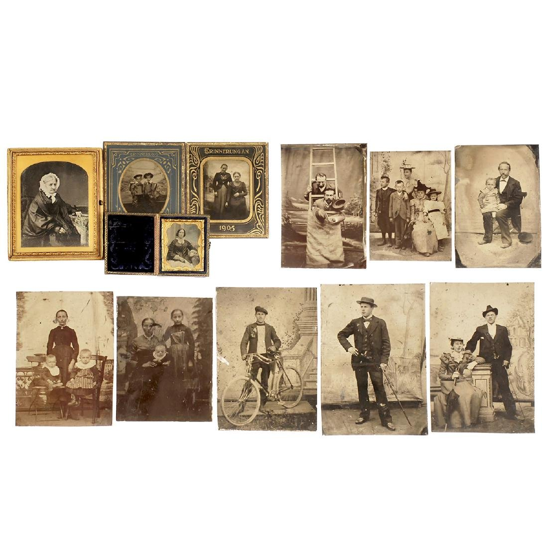 3 Ambrotypes and 10 Tintypes, 1860-1905
