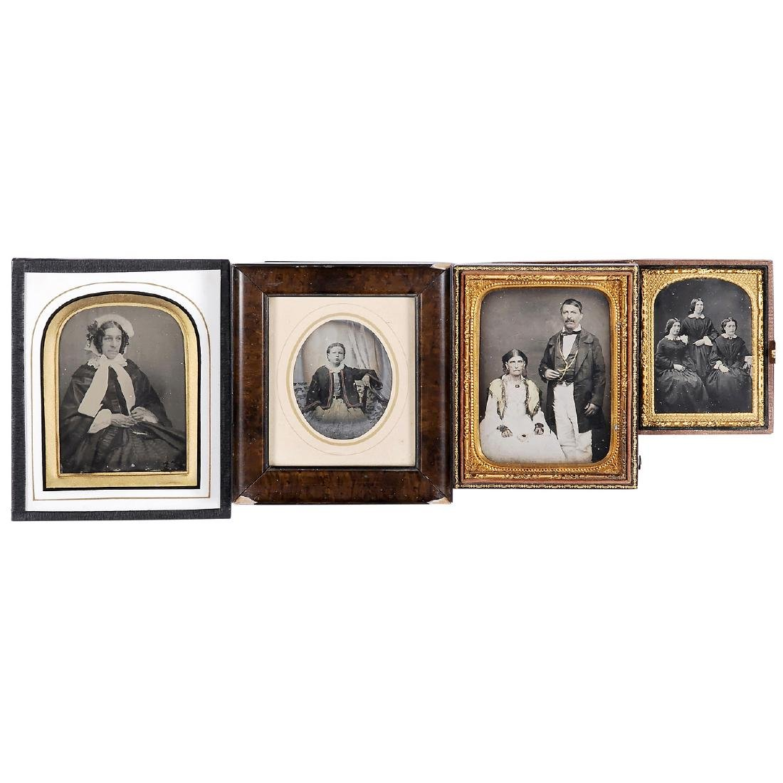 4 Ambrotypes (Various Sizes), 1855-65