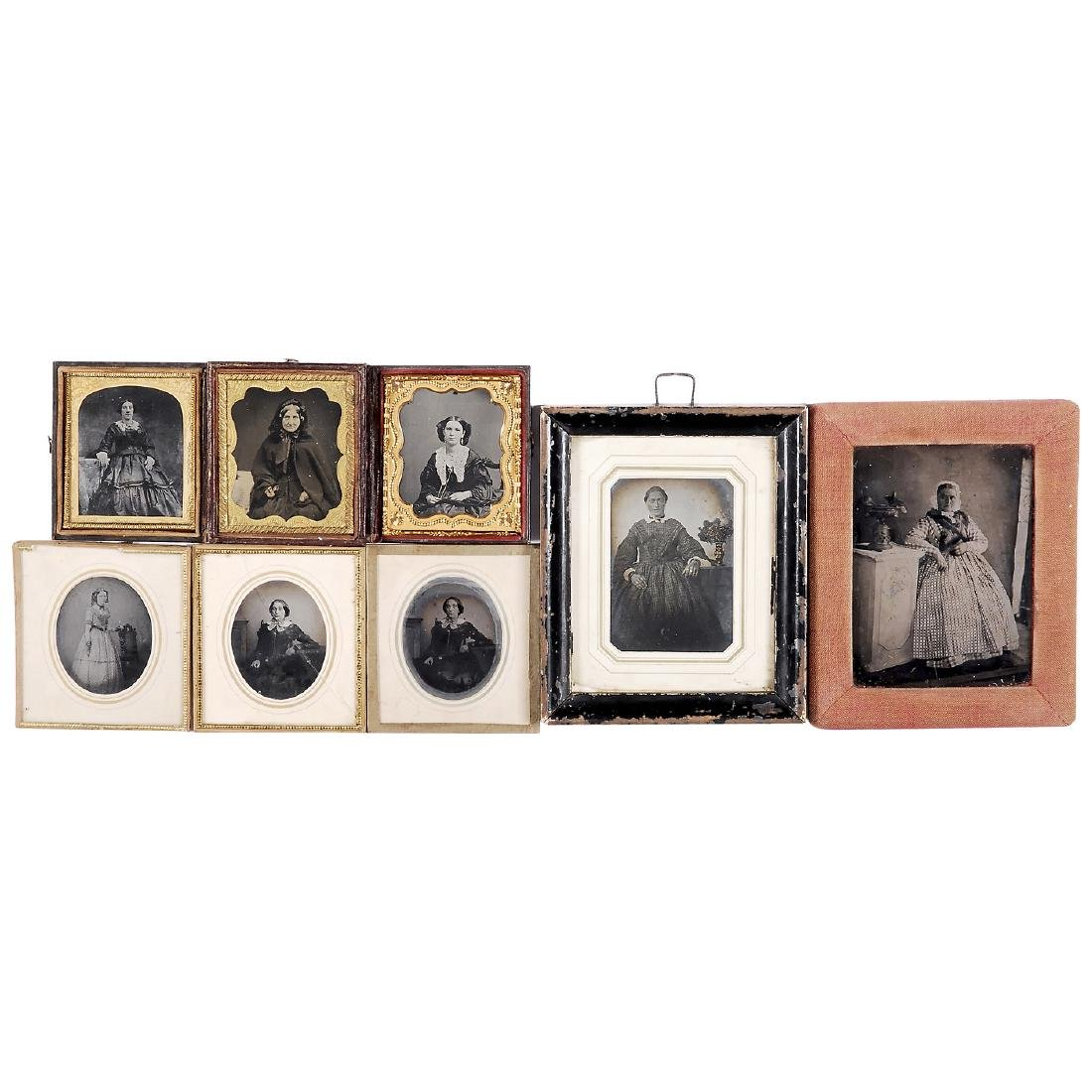 8 Ambrotypes (Various Sizes), c. 1860-1900