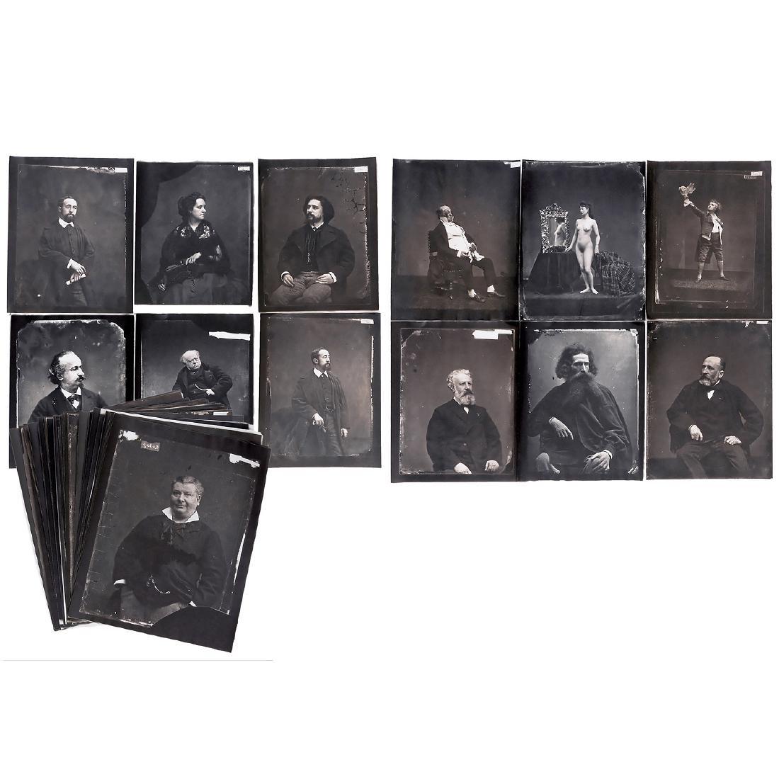 28 Copies of Carjat Glass Plates