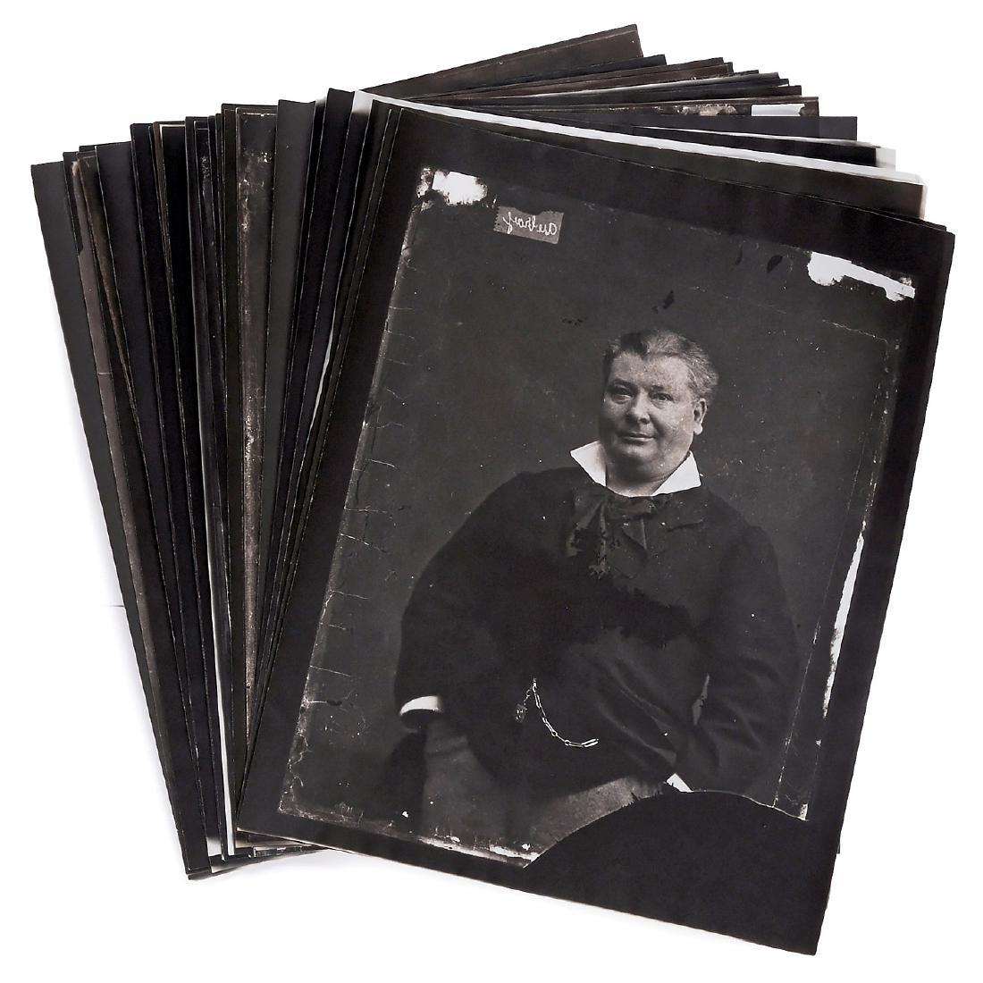 28 Copies of Carjat Glass Plates - 4