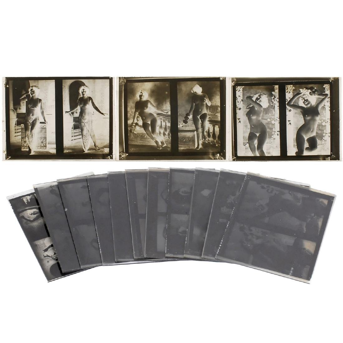 Glass Plates Negatives of Nudes, c. 1900
