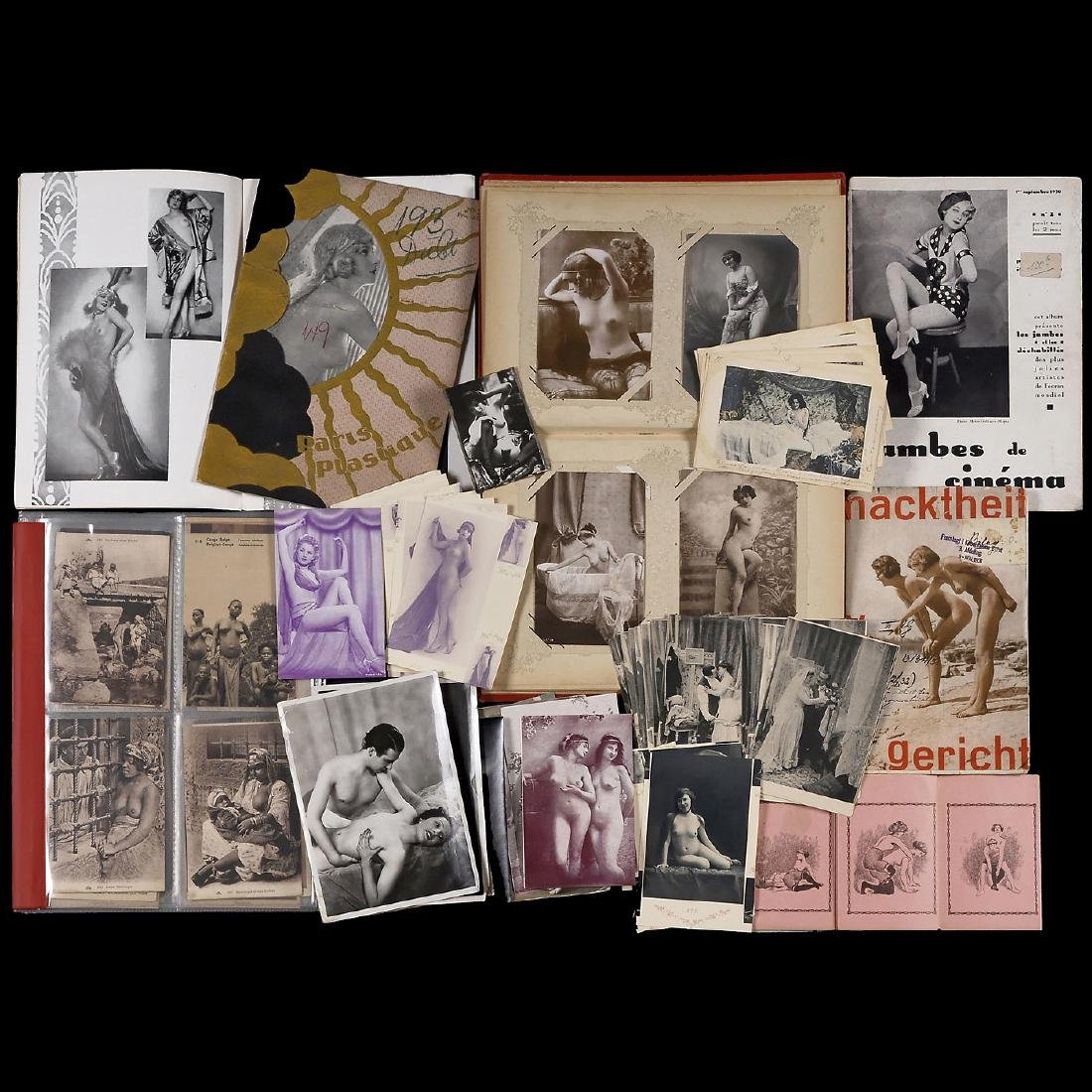 Lot of Nude Photographs, c. 1890-1920