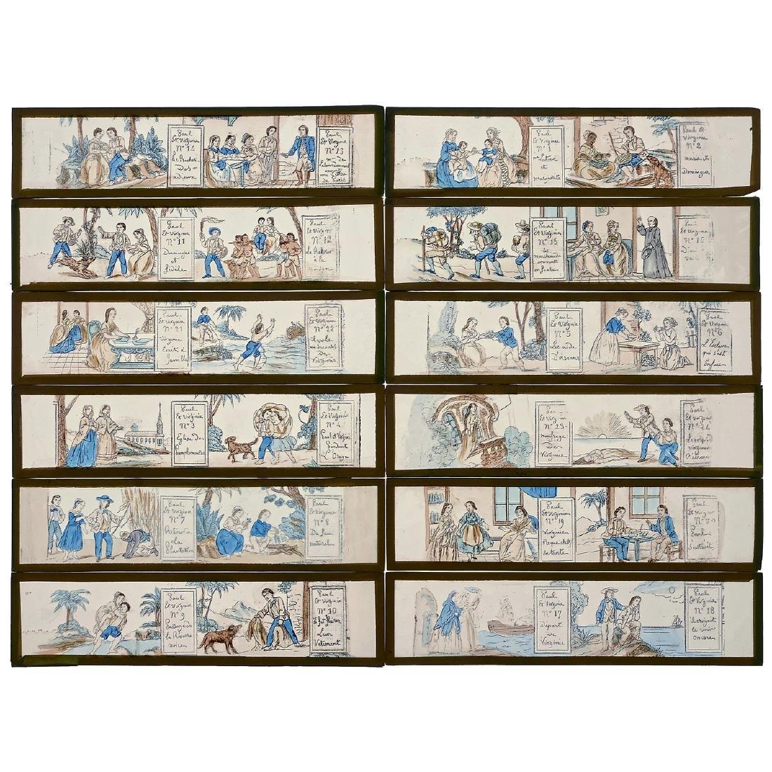 Paul et Virginie, Series of 12 Lantern Slides by