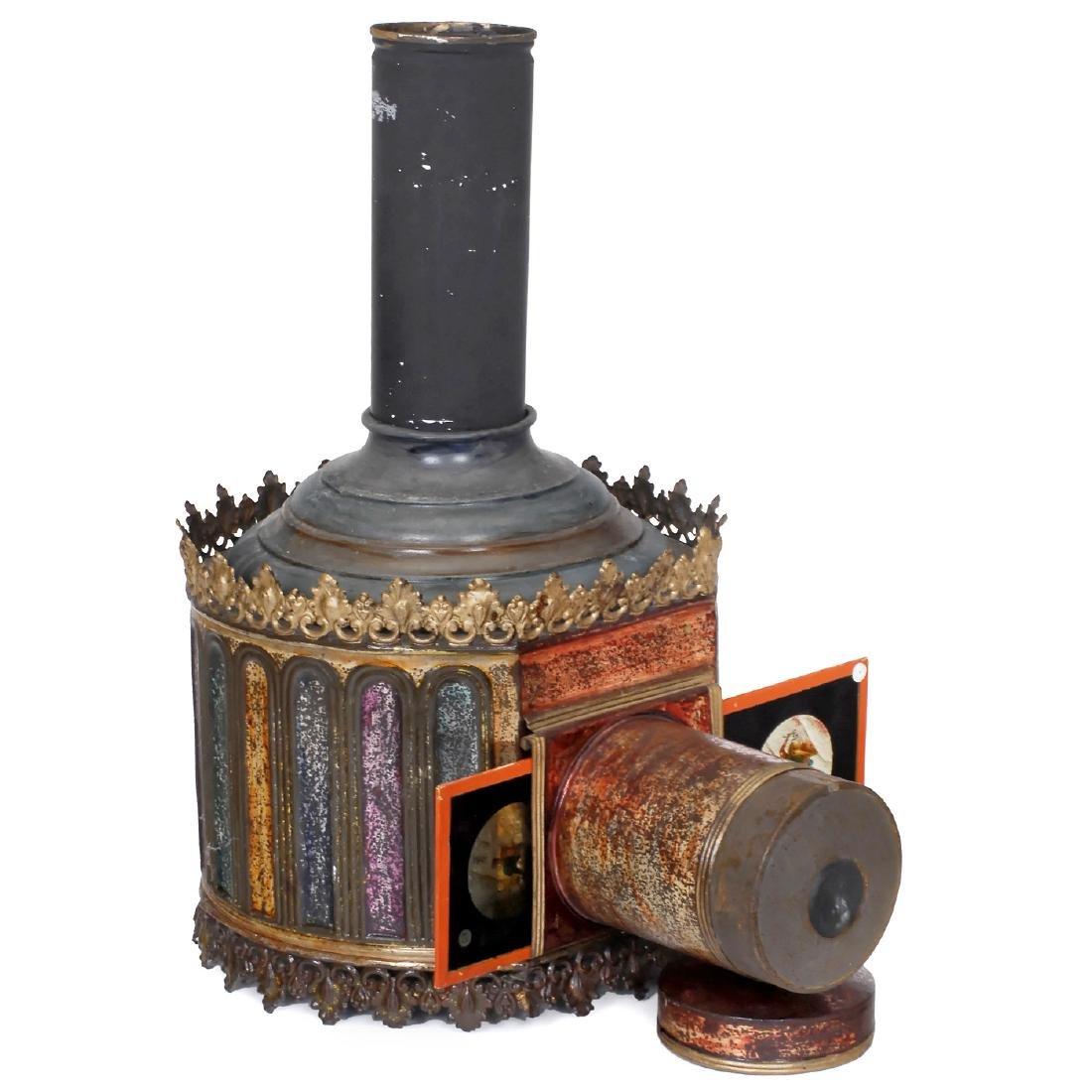 "Large ""Polychrome"" Magic Lantern by Aubert, c. 1885"